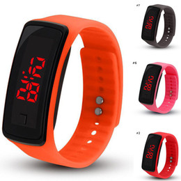$enCountryForm.capitalKeyWord Australia - New Fashion LED Watches Sport Digital Display Bracelet Wrist Watch Silicone Touch Screen candy band for men women Children's Students