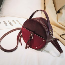 shoulder strap polyester bag 2020 - Ladies Round Crossbody Bag PU Solid Color Adjustable Strap Shoulder Hand Bag for Dating New cheap shoulder strap polyest