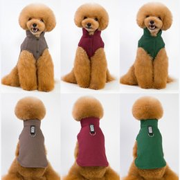 harness clothes Australia - Dog Hoodies Puppy Vest Harness Clothes for Small and Medium Dogs Autumn Winter Leisure Doggie Outfits
