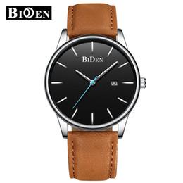 $enCountryForm.capitalKeyWord Australia - BIDEN Fashion Men's Watches Sport Wrist Watch Men Luxury Leather Quartz Watch Men Complete Calendar Clock Male Relogio