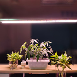 Plug striPs online shopping - LED Grow Lights T5 HO Tube Strip Bar Full Spectrum Integrated Growing Lamp Fixtures Plug in Plug in ON Off Pull Chain Included