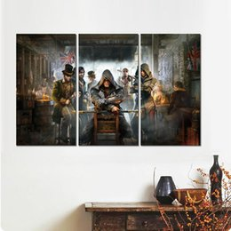 $enCountryForm.capitalKeyWord UK - 3 modular assassins creed syndicate canvas printed painting wall pictures for room decor