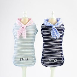 $enCountryForm.capitalKeyWord Australia - Cat Clothes 2019 New Pet Dog Cat Vest Cotton Striped T Shirt Casual Top Shirt for Puppies Small Dog Kitten Clothes in Summer