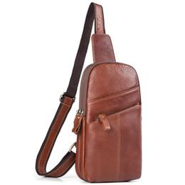 genuine leather chest bags 2019 - IMIDO genuine leather vintage chest bag shoulder bag retro fashion men cheap genuine leather chest bags