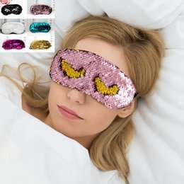 $enCountryForm.capitalKeyWord NZ - Sequins Sleeping Mask Adjustable Glitter Mermaid Reversible Magic Sequin Eye Mask Party Mask Party Favors For Home Party Gift