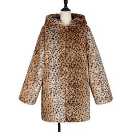 $enCountryForm.capitalKeyWord UK - AOTEMAN Leopard Print Winter Women Faux Fur Coat Casual Hoodies Fur Jacket Coat Vintage Long Sleeve Jacket Fur Overcoat Ukraine