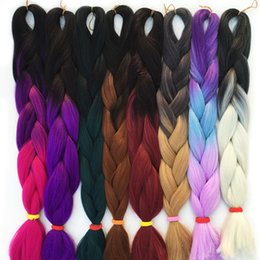 Big Braided Wigs Australia - Homboux Cancalon Synthetic giant woven hair African big braid Wig