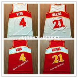 14bc04a4e3b 2019 New  21 Dominique Wilkins  4 Spud Webb Top Basketball Jersey  Embroidery Stitched US Size S-XXL vest Jerseys Ncaa