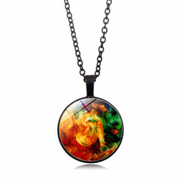 wholesale beautiful clothes 2019 - 2019 creative new necklace beautiful starry time gemstone necklace fashion pendant necklace men and women clothing acces