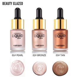 Face Glow Cream Australia - Dropshipping Beauty GLAZED 3D Liquid glow Highlighter Make Up Highlighter Cream Concealer Shimmer Face Glow Ultra-concentrated 15ML