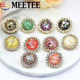 Clothes Buttons Australia - Fashion Rhinestone Button Clothes Shirt Botones Decorativos DIY Crystal Buttons For Sewing Handmade Jewelry Bracelet Accessory