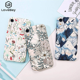 $enCountryForm.capitalKeyWord Australia - Lovebay Phone Case For iPhone X XR XS Max 8 7 Plus Cartoon Colorful Flowers Pineapple Leaves Hard PC Back Cover Cases Coque
