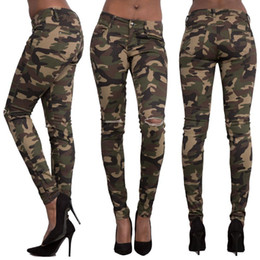 Army Camouflage Pants For Women Australia - Weweya Women Plus Size Camo  Army Green Skinny Jeans 079f990f115b