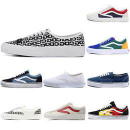 vans Scarpa casual THE WALL old skool sk8 uomo donna canvas sneakers nero bianco YACHT CLUB MARSHMALLOW fashion skate scarpe casual on Sale