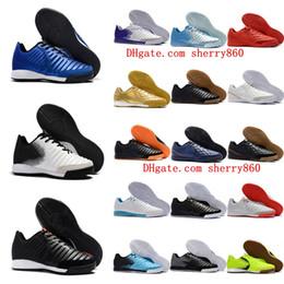 Discount indoor soccer shoes blue - 2019 mens soccer cleats Tiempo Ligera IV IC indoor soccer shoes TIEMPOX football boots TimpoX Finale Tacos de futbol new