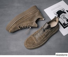 South korean faShion ShoeS online shopping - 2019 fashion spring shoes thick bottom high board shoes for the south Korean version of young fashion male students with casual shoes