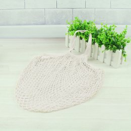 $enCountryForm.capitalKeyWord Australia - Cotton Net Shopping Tote Ecology Market String Bag Organizer (Yellow)
