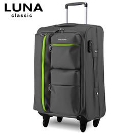 luggage wheels 2019 - Universal wheels trolley luggage travel bag soft box luggage bag 20 22 24 26 28 luggage,high quality waterproof trolley