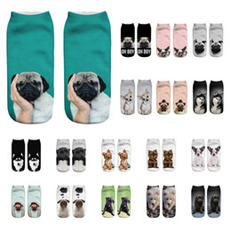$enCountryForm.capitalKeyWord UK - Unisex Socks Popular Funny 3D Dog Printing Short Cotton Sock Women Men Christmas Socks Meias Femme Low Cut Anklet Socks 50styles