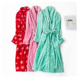 Women Men Flannel Fleece Bathrobe Sleepwear 2019 Spring Winter Couple  Bathrobe Sashes Warm Female Robe Nightgown 947c0a004