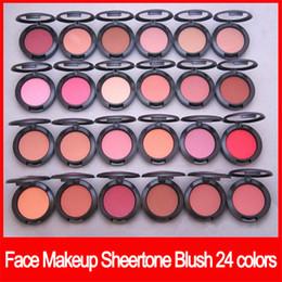 Makeup palette Mirror online shopping - Famous Face Makeup sheertone blush colors blush palette g no mirror no brush Powder Shimmer Blush