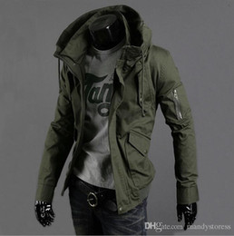 $enCountryForm.capitalKeyWord Australia - Wholesale- Free Shipping New Slim Sexy Top Designed Mens Jacket Coat 3 Colour:Black,Army green,Blue,hot,Men Jackets Plus Big Size S-5XL