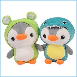 plush toy bee wholesale NZ - 25cm The pengsoo penguin Dinosaur frog bee Plush Toys Kwazii Stuffed Animals Cartoon Penguin Plush Dolls for Kids Toys 1214
