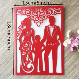 $enCountryForm.capitalKeyWord Australia - 50PCS Happiness Family With Hollow Laser Cut Wedding Invitation Card Engagement Invitations Friends Dinner Invitations Party Decoration