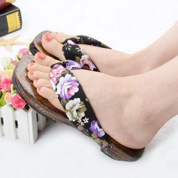 $enCountryForm.capitalKeyWord UK - Home Slippers Beach Slippers for Women Japanese kimono Wooden Sandals Wholesale Indoor Christmas women flip flops b99