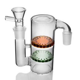 layer percolator bong Canada - 14mm Glass Ash Catcher Heady Glass Bongs Ashcatcher Smoking Water Pipes 2 Layers Honeycomb Bongs Percolator Water Bong