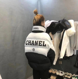 Wholesale coat collar design for sale – winter Winter Latest Hottest Women s Cotton Padded Jacket Web Celebrity Same Double C Letter Printing Design Thick Coat Women s Loose Coat