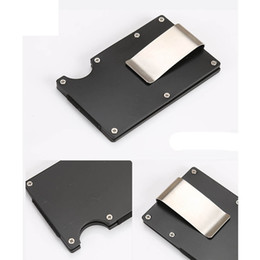 Block Clamp Australia - Hot Sale Men Metal Wallet Stainless Steel Credit Card Holder Aluminum Wallet With Blocking Fashion Mini Money Clamp Drop Ship