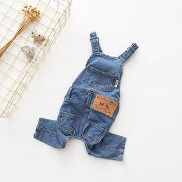 jeans for small dogs Australia - New Hot Summer Clothes for Dogs Jeans Dog Overalls Clothes for Dogs Denim All Match Jumpsuit for Dogs Yorkshire Pug Rompers