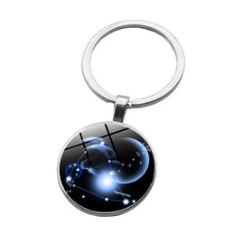 $enCountryForm.capitalKeyWord UK - 2019 new accessories 12 constellation pattern alloy key chain car pendant accessories wholesale 10 styles can be mixed batch