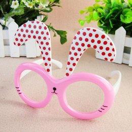 Девочки милые длинные уши рамки детские очки летние пляжные аксессуары дети ну вечеринку розовый тематическое платье дети фотографическое украшение часть