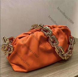 30 centímetros Designer mais novo Cadeia Pouch Bolsa de couro genuíno Luxo Mulheres Nuvem Tote Shoulder Bag de alta qualidade em Promoção