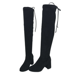 Discount women red knee boot - Okoufen Boots Lightweight Over-the-knee Boots For Women Basic Round Toe Women Pumps Shoes