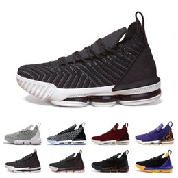 22e1acb2ca08 New Arrival XVI 16 Black White Gold BHM Basketball Shoes for Top quality  Mens Athletic Trainers 16s Wolf Grey Sports Sneakers Size40-46