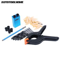 $enCountryForm.capitalKeyWord Australia - Bits Woodworking Tools for Kreg Pocket Hole Jig Kit 6-10mm HSS Drill Bit Set Wood Drilling Pocket Screws Spring Clamp Drill Guide