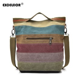 $enCountryForm.capitalKeyWord Australia - Casual Hand Bags For High Quality Canvas Crossbody Bag Patchwork Big Capacity Handbag Sac A Main Multi Use