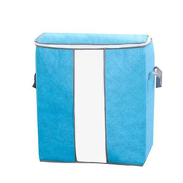 $enCountryForm.capitalKeyWord UK - High Quality Storage Bag Box Portable Organizer Non Woven Underbed Pouch Storage Box Bamboo Clothing Storaging Bag for drop shipping