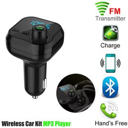 Wholesale NEW BT62 Wireless Bluetooth Car MP3 Player Dual USB Cell Phone Car Charger Handsfree Call FM Transmitter Support TF Creative