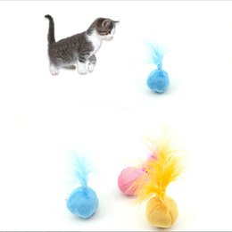Feather Ball Hair Australia - Catnip Cat Toys Sound Ball Hair Ring Bell Teaser Pet Toys For Cat Supplies Kitten Interactive Fun Dog Feather Pet Toy Funny