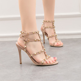 pu sandals china NZ - China Manufacturer Elegant Style Dress High heel sandal thin heel shoes point toe women shoes open-toe lady shoes