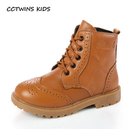 $enCountryForm.capitalKeyWord Australia - CCTWINS KIDS 2018 Toddler Genuine Leather Martin Boot Baby Girl Kid Boy Lace-Up Children Fashion Leather Black Booties C1110MX190917