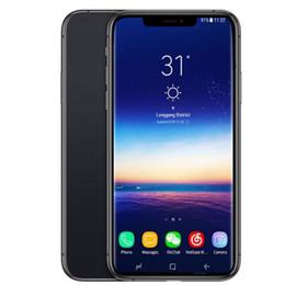 Dual Micro Sim Card NZ - Goophone xs max 6.5inch 1GB RAM 4GB ROM MTK6580 Quad Core 3G WCDMA Fake 4G LTE displayed Dual SIM Card Cell Phones