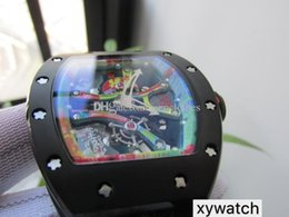 Best Skeleton Watches Men Australia - 42mmx50mm 68-01 Cyril Phan Aka Kongo KV Factory Best Edition Colorful Skeleton Dial Miyota 9015 automatic men watch cool wristwatch