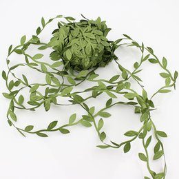 Flowers For wreaths online shopping - 200m Artificial Green Flowers Leaves Rattan DIY Garland Wreaths Accessory for Home Wedding Party Decoration Fake Leaves