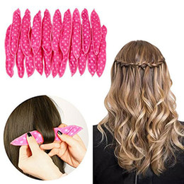 $enCountryForm.capitalKeyWord Australia - Cute Rabbit Ear Magic Sponge Pillow Soft Roller Hair Best Flexible Foam Sponge Hair Curlers Diy Styling Hair Rollers 6pcs set