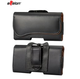 mobile phone fashion pouch UK - Waist Packs Mobile Phone Bags Hook Loop Belt Clip Case Waist Bag PU Leather Fashion Belt Clip Bag for iphone Samsung SonyHuawei